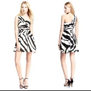 NEW ZEBRA ONE SHOULDER MINI DRESS